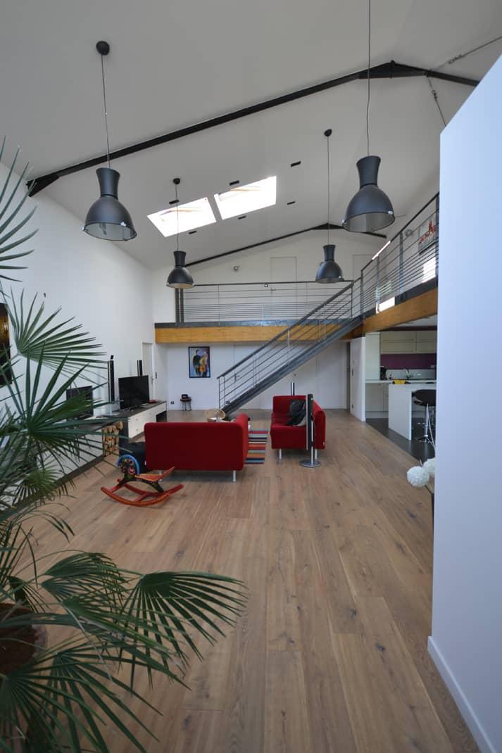 loft chavagne vue du salon - Permis de construire pour un loft proche de Rennes (35)