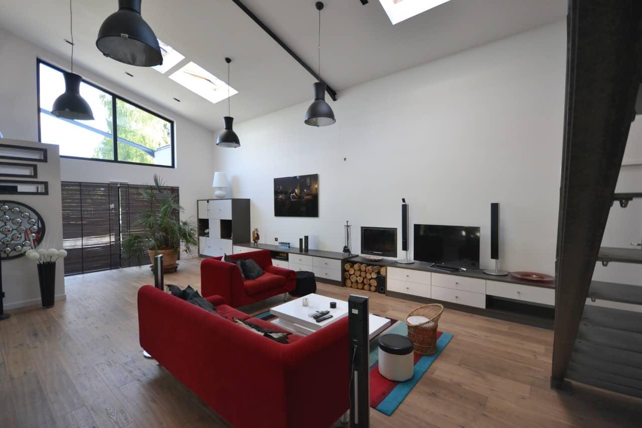 Interieur loft chavagne 351 - Permis de construire pour un loft proche de Rennes (35)