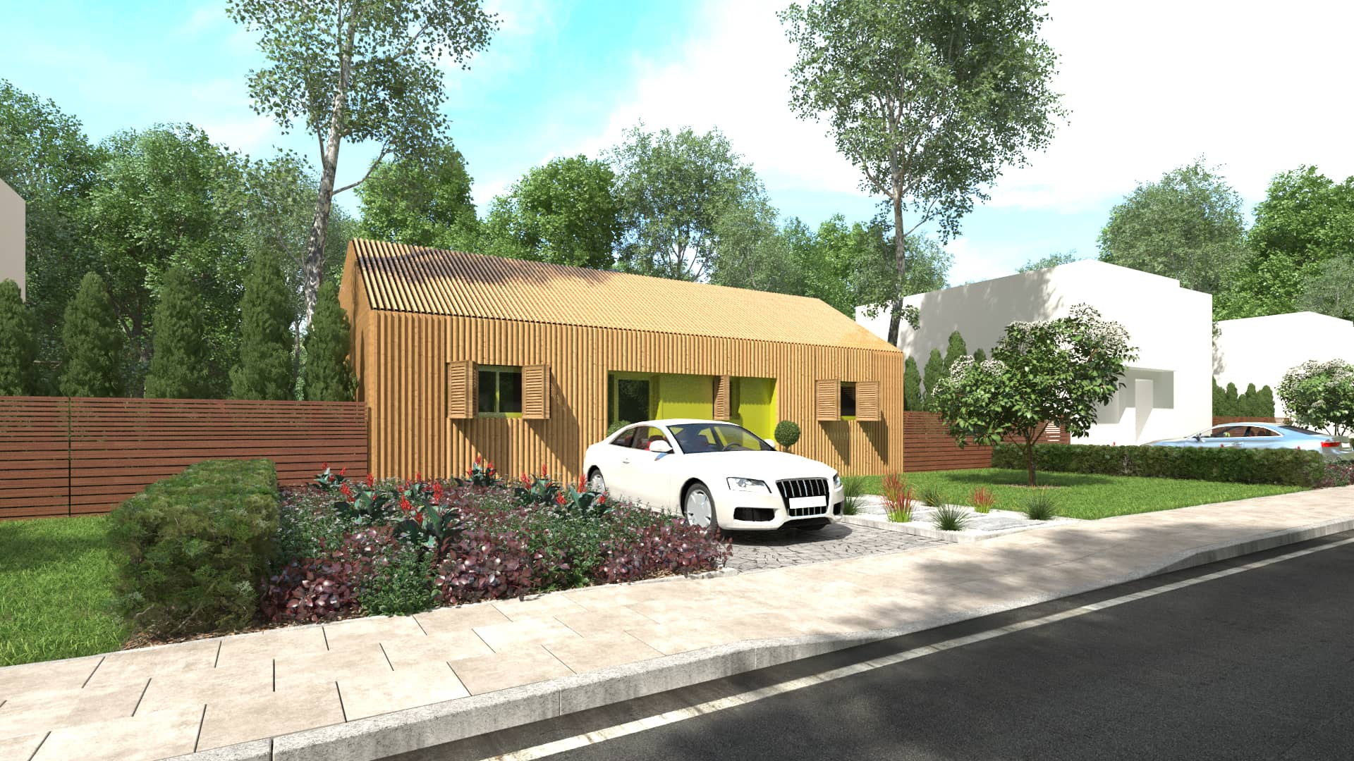 maison bois modulaire - Avant-projet d'une maison individuelle contemporaine à Nantes (44)