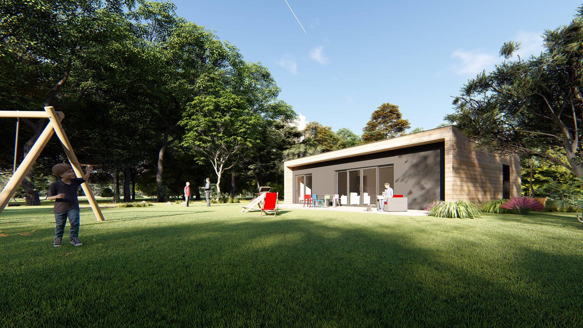 Maison bois pas chere - Autoconstruction : la maison bois en kit préfabriquée