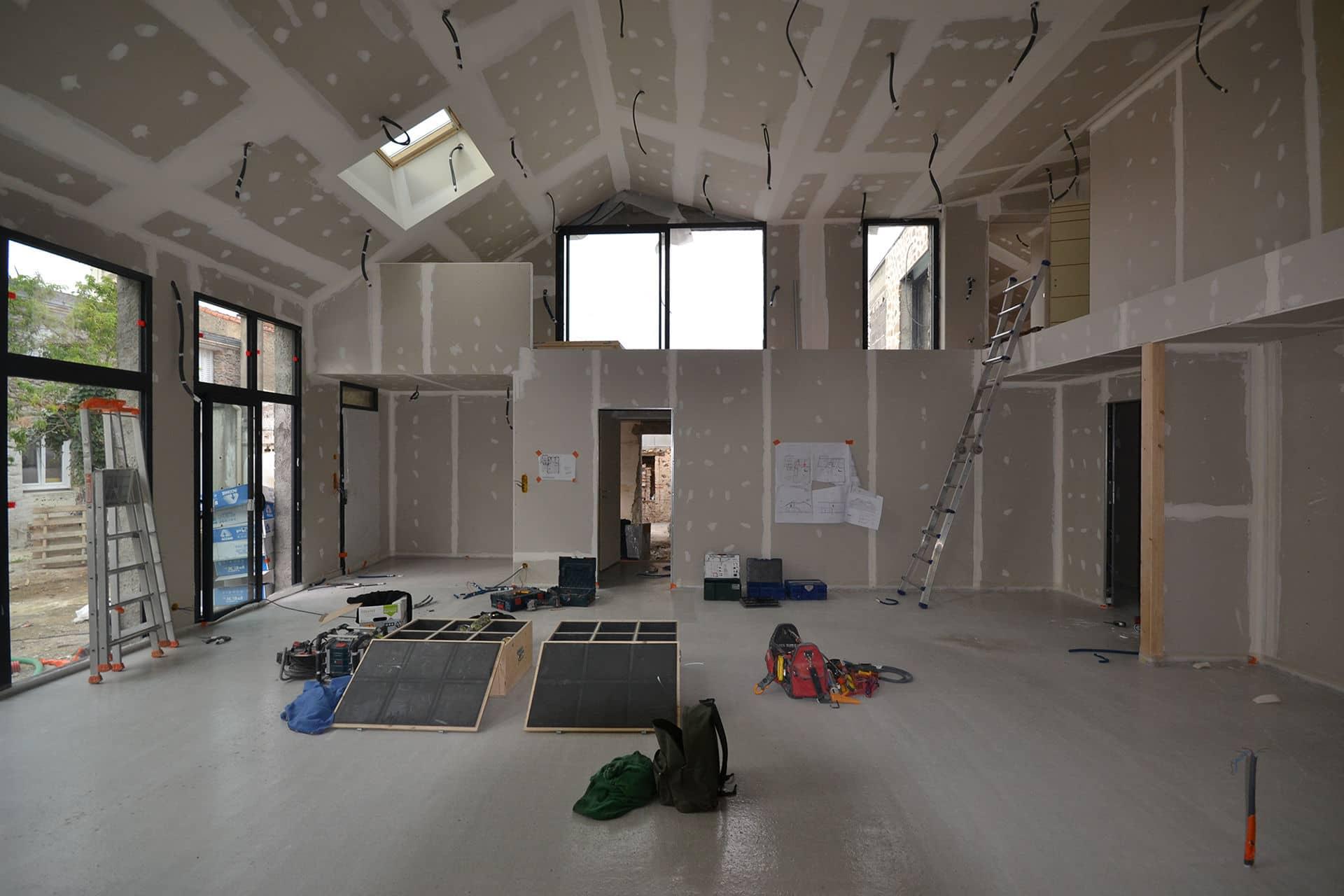 loft saint colomban chantier 1 - Loft dans une ancienne forge à Saint Colomban, proche de Nantes (44)