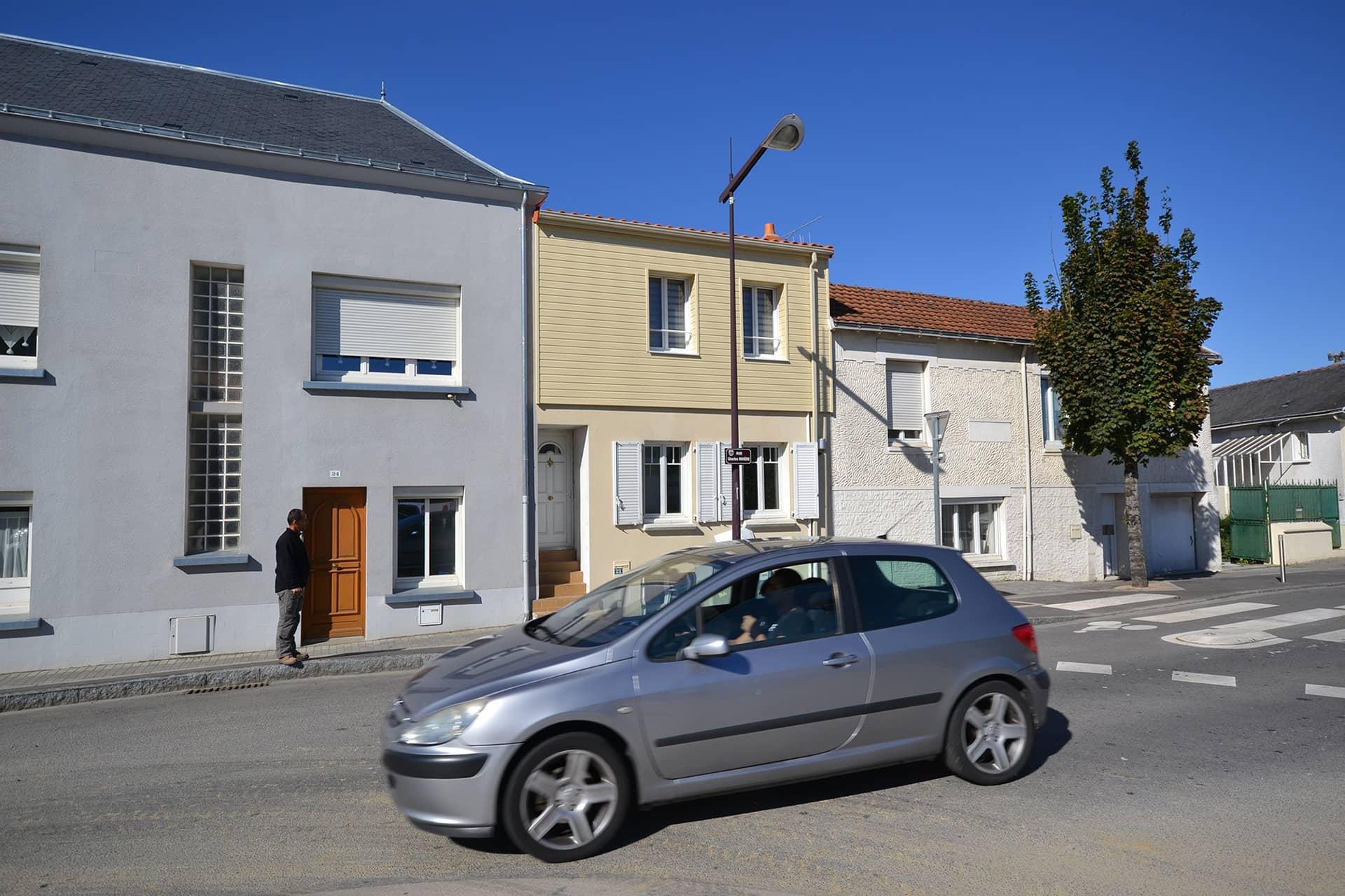 Surélévation d'une maison de ville à Rezé (44)