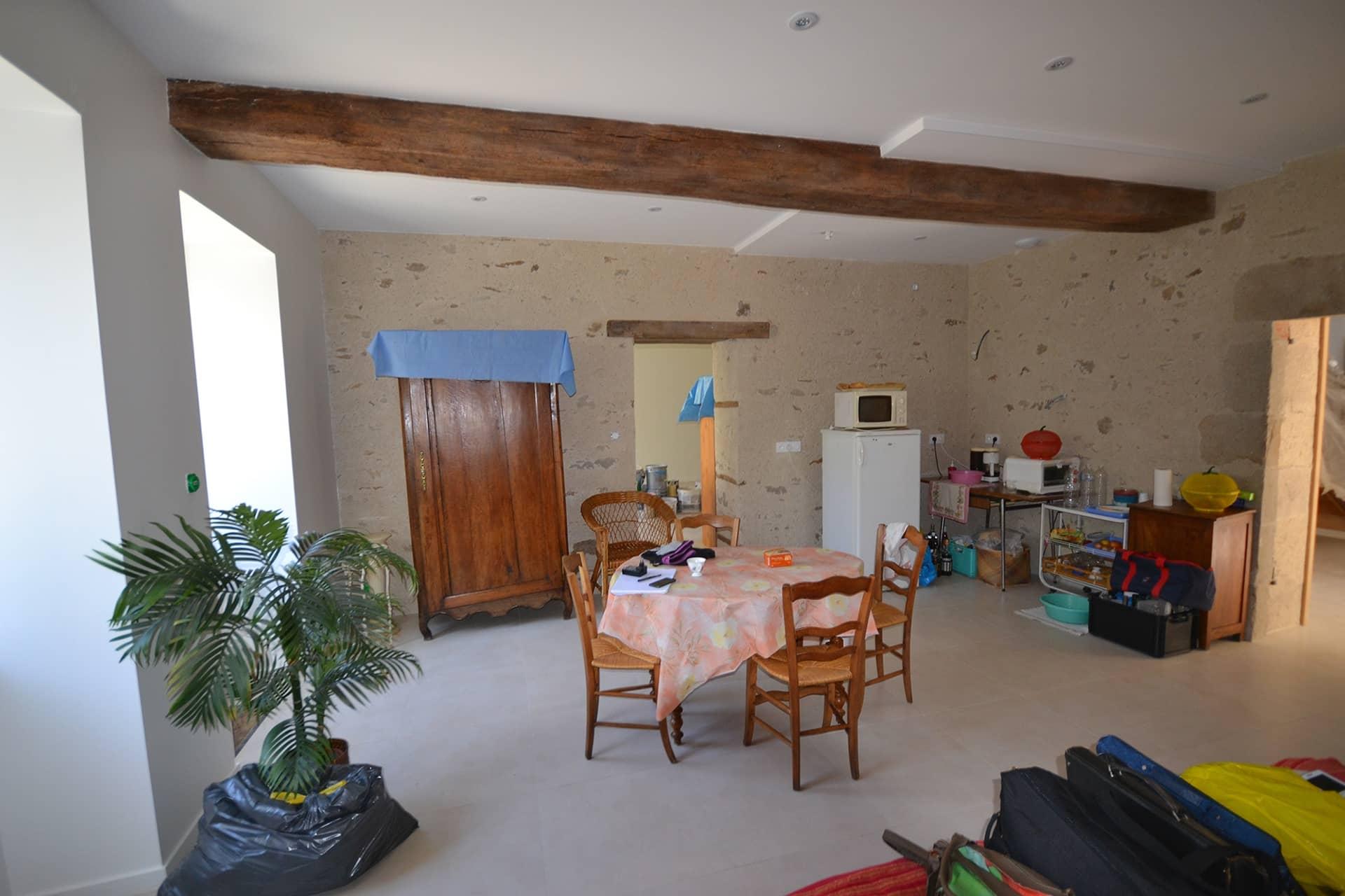 vue interieure maison bourgeoise a lege - Rénovation d'une maison bourgeoise à Legé (44)