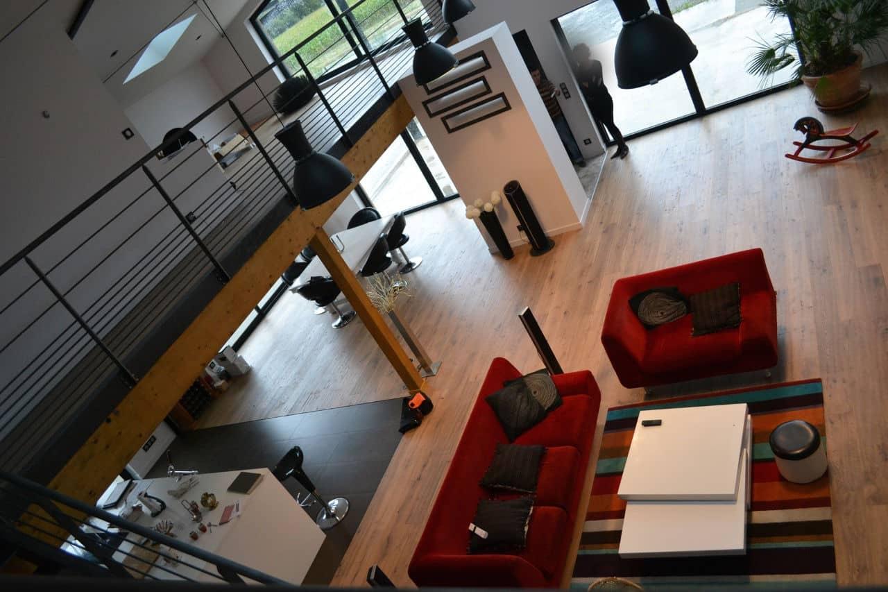 Chavagne Loft vue mezzanine1 - Permis de construire pour un loft proche de Rennes (35)