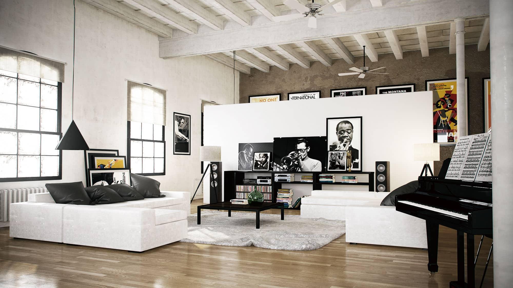 d coration d 39 un loft rez 44 permis de construire d claration de travaux pixela. Black Bedroom Furniture Sets. Home Design Ideas