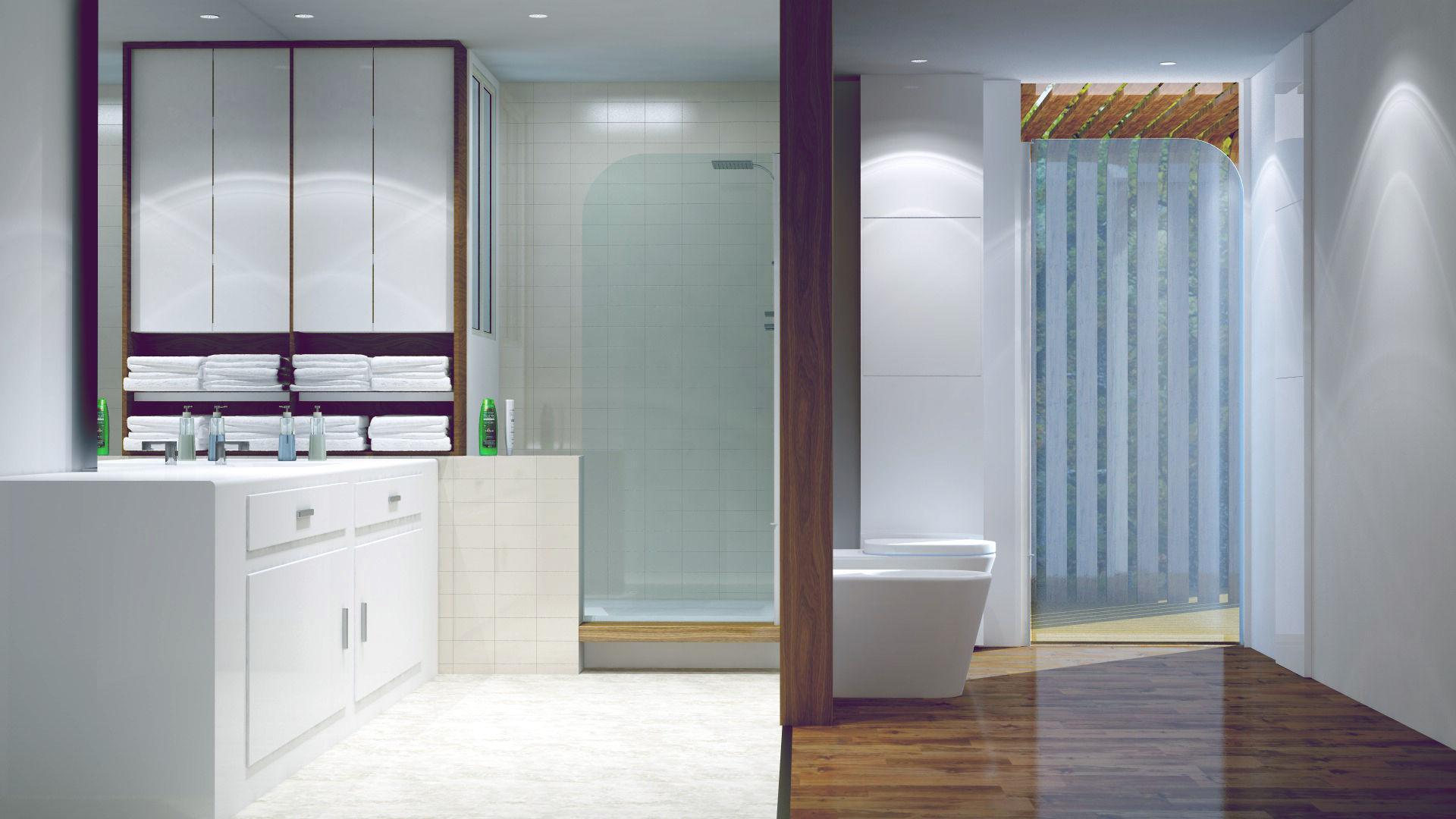 salle d eau architecture interieur2 - Réalisation d'une salle d'eau dans une maison à Nantes