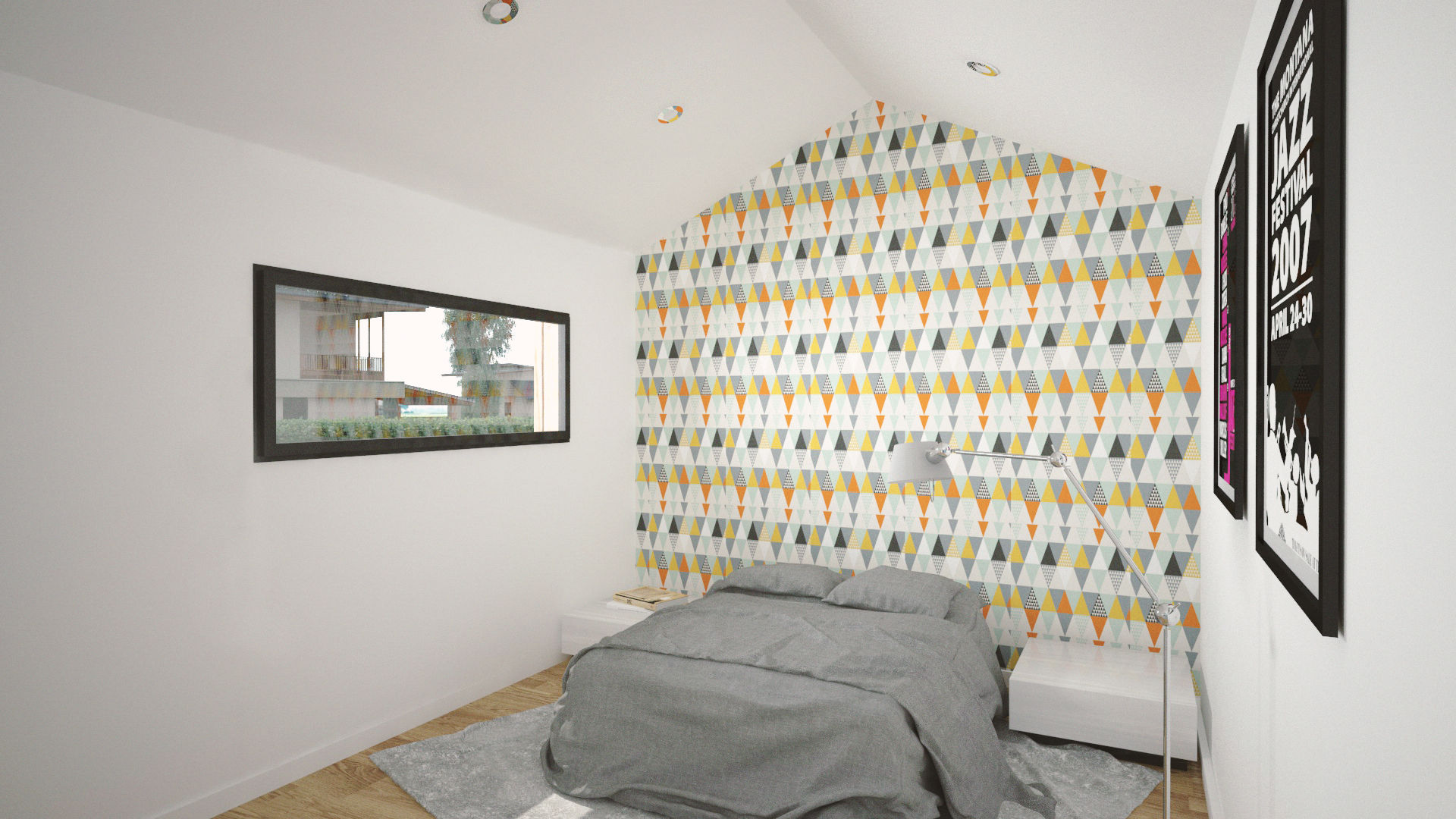 Vue 3D intérieure studio de jardin