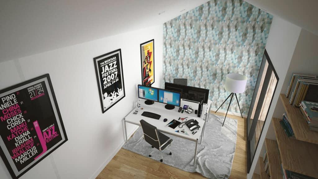 bureau 40m2 1024x576 - Studios et bureaux indépendants en bois