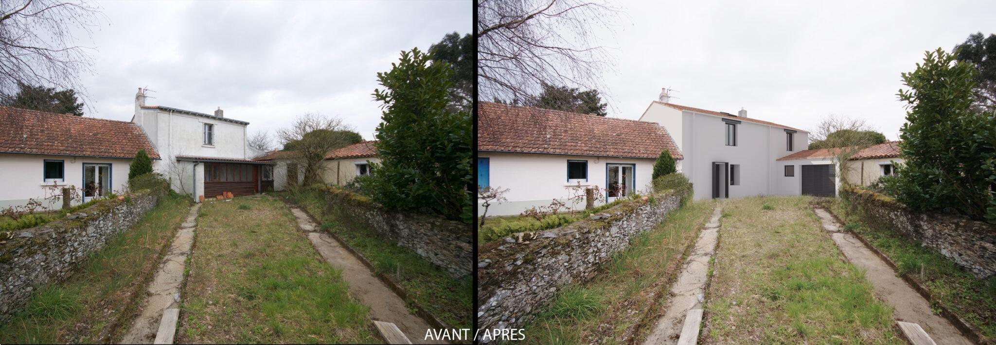 Rénovation et extension maison individuelle Saint Sébastien sur Loire avant apres - Rénovation et extension d'une maison individuelle à Saint Sébastien sur Loire (44)