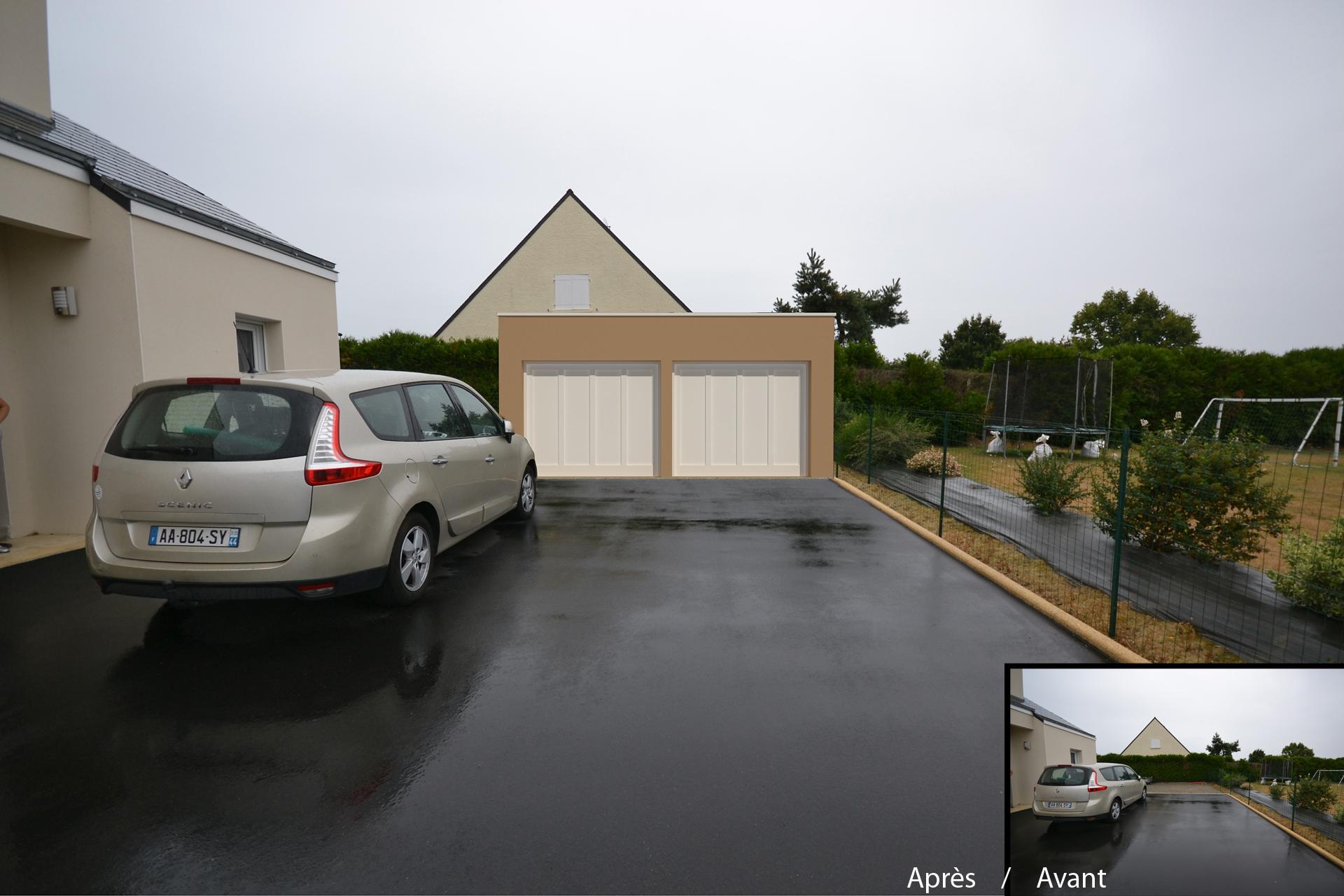 permis de construire ligne 44 - Réalisation d'un garage à Ligné (44)