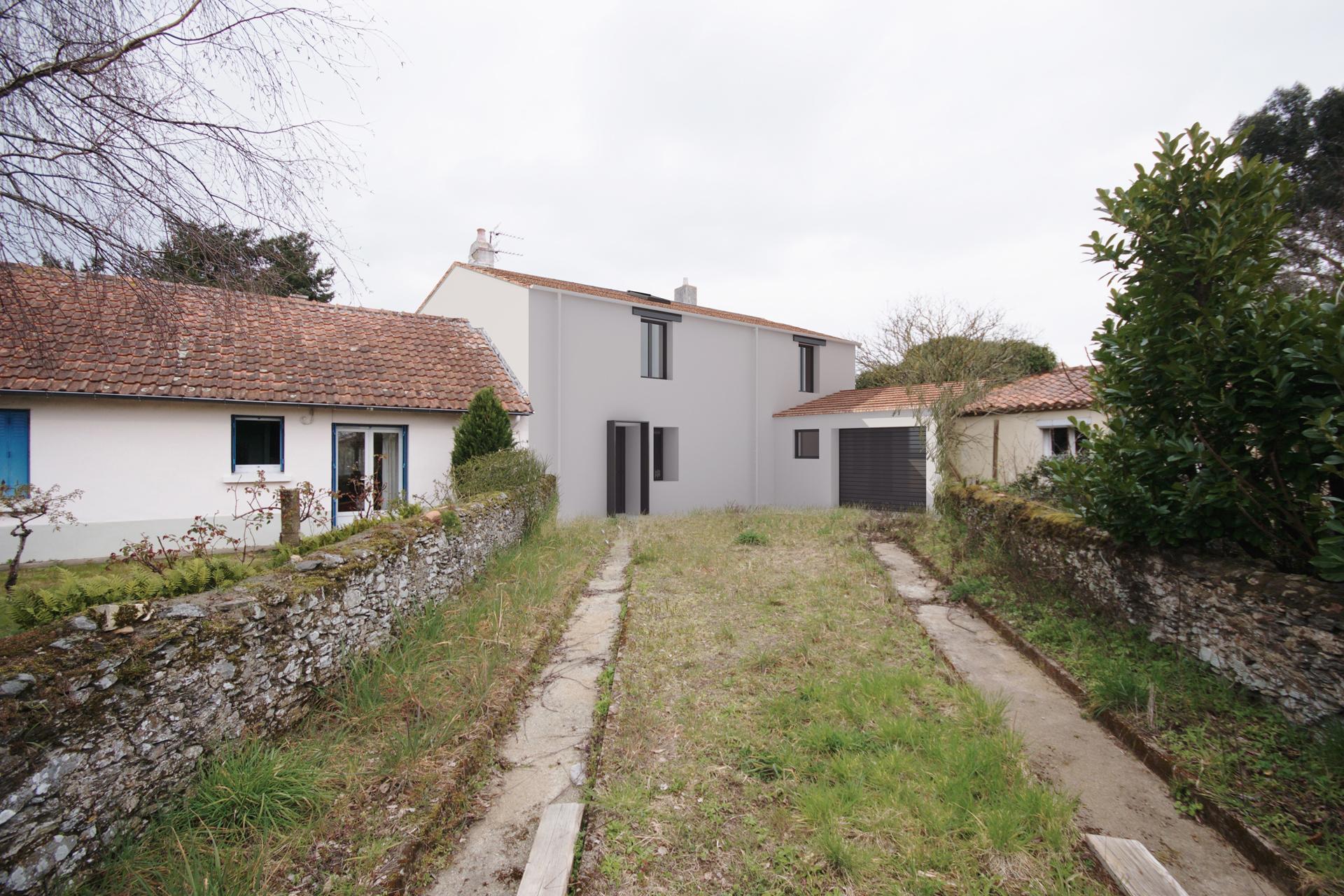 Rénovation et extension d'une maison individuelle à Saint Sébastien sur Loire (44)