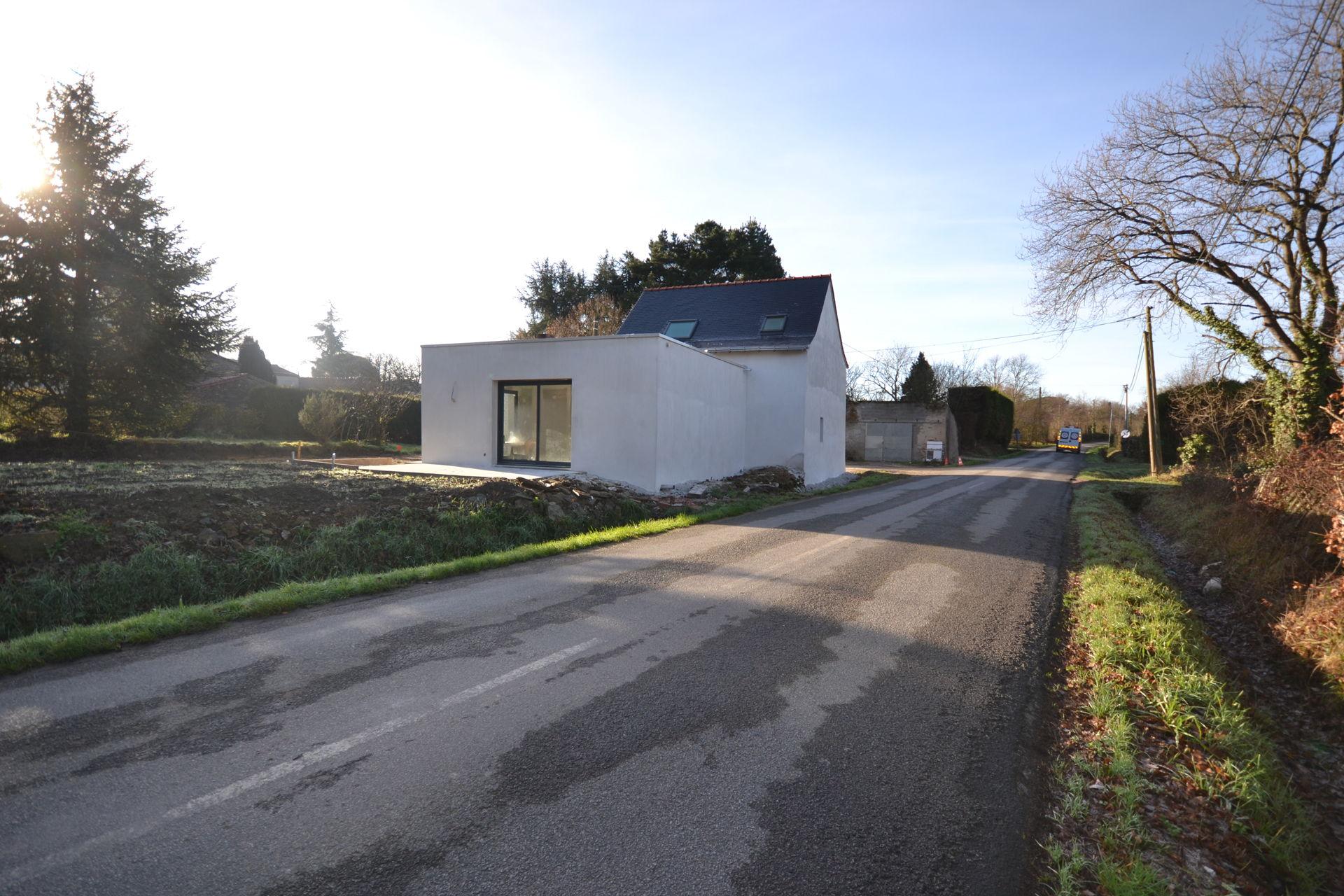 extension et surélévation Caquefou5 - Extension et rénovation d'une maison à Carquefou (44)