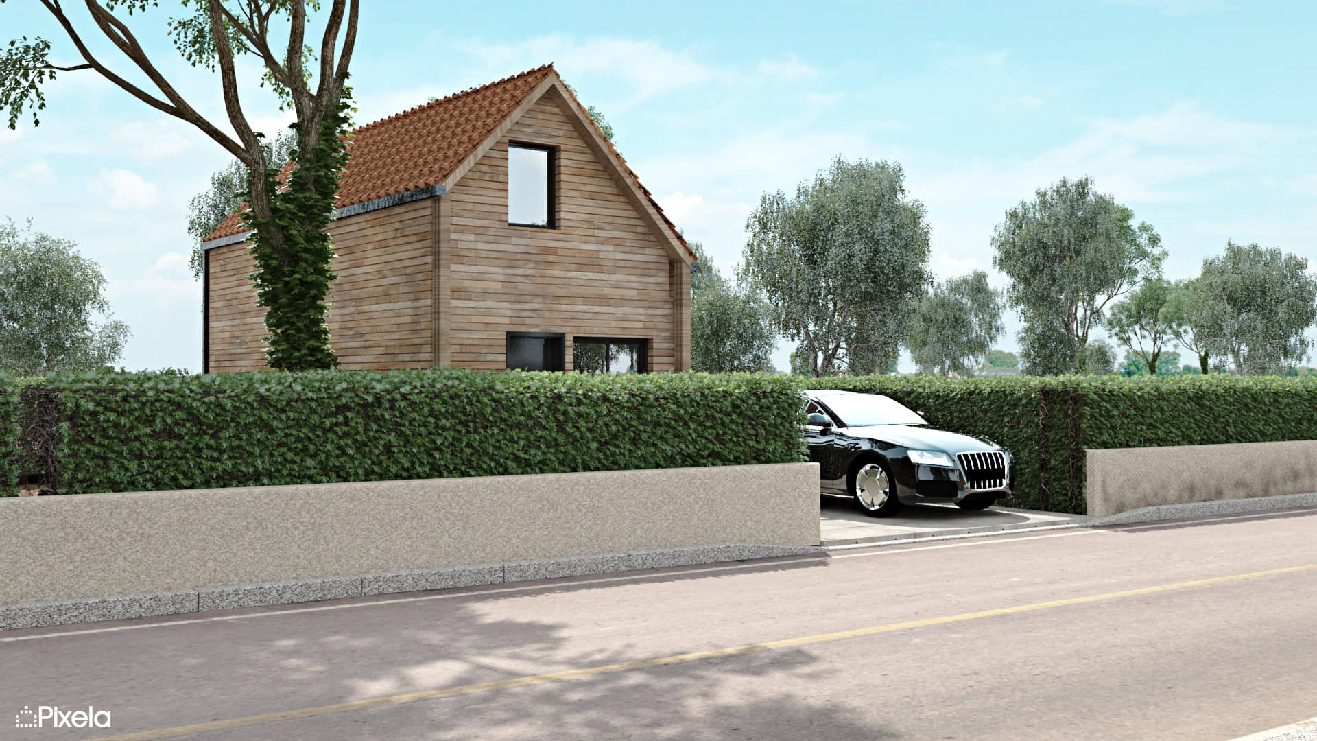 Maison ossature bois Clisson (44)
