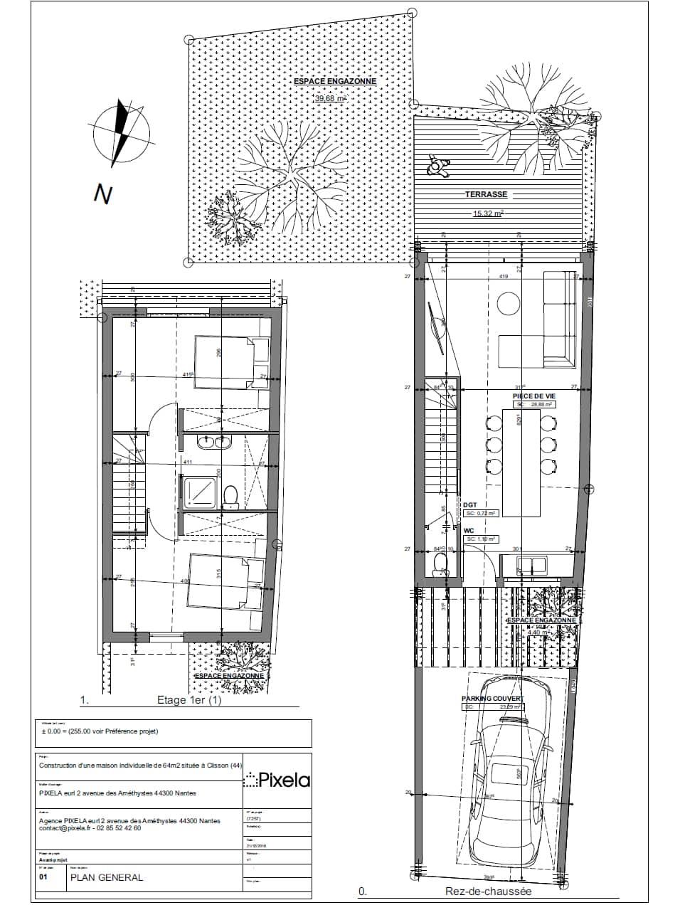 plan maison ossature bois clisson 44 - Future maison individuelle à Clisson dès avril 2017
