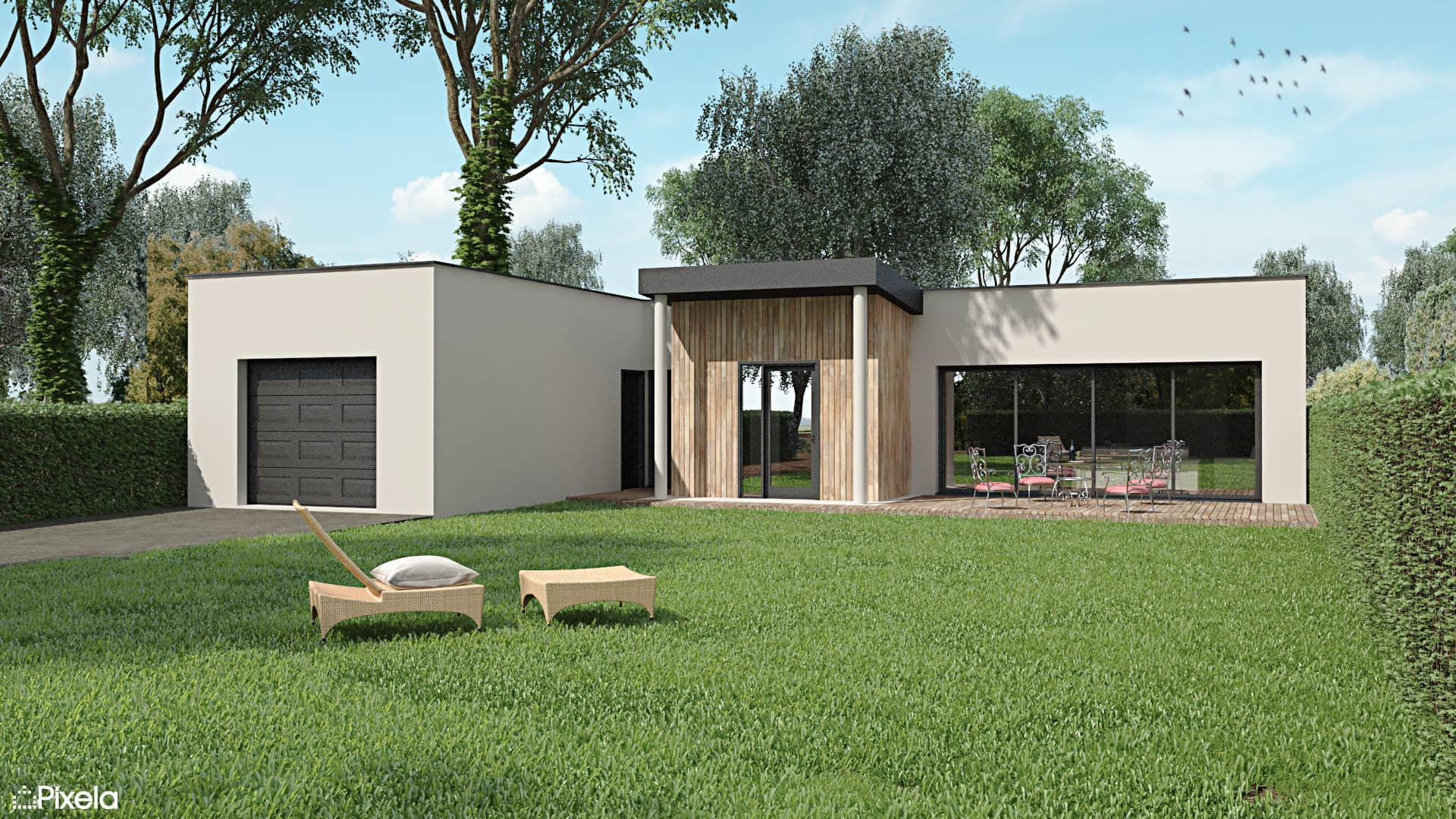 maison contemporaire sainte luce sur loire 44 - Maison contemporaine à Sainte Luce Sur Loire (44)
