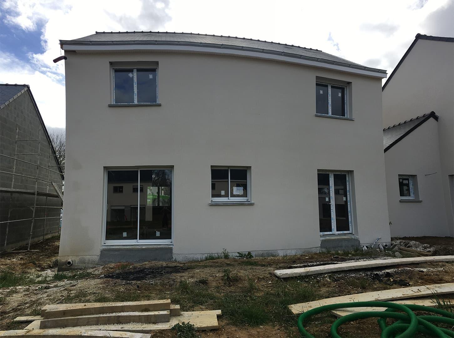 maison suce sur erdre pas cher vue arriere - Permis de construire - Maison individuelle traditionnelle à Sucé sur Erdre (44)