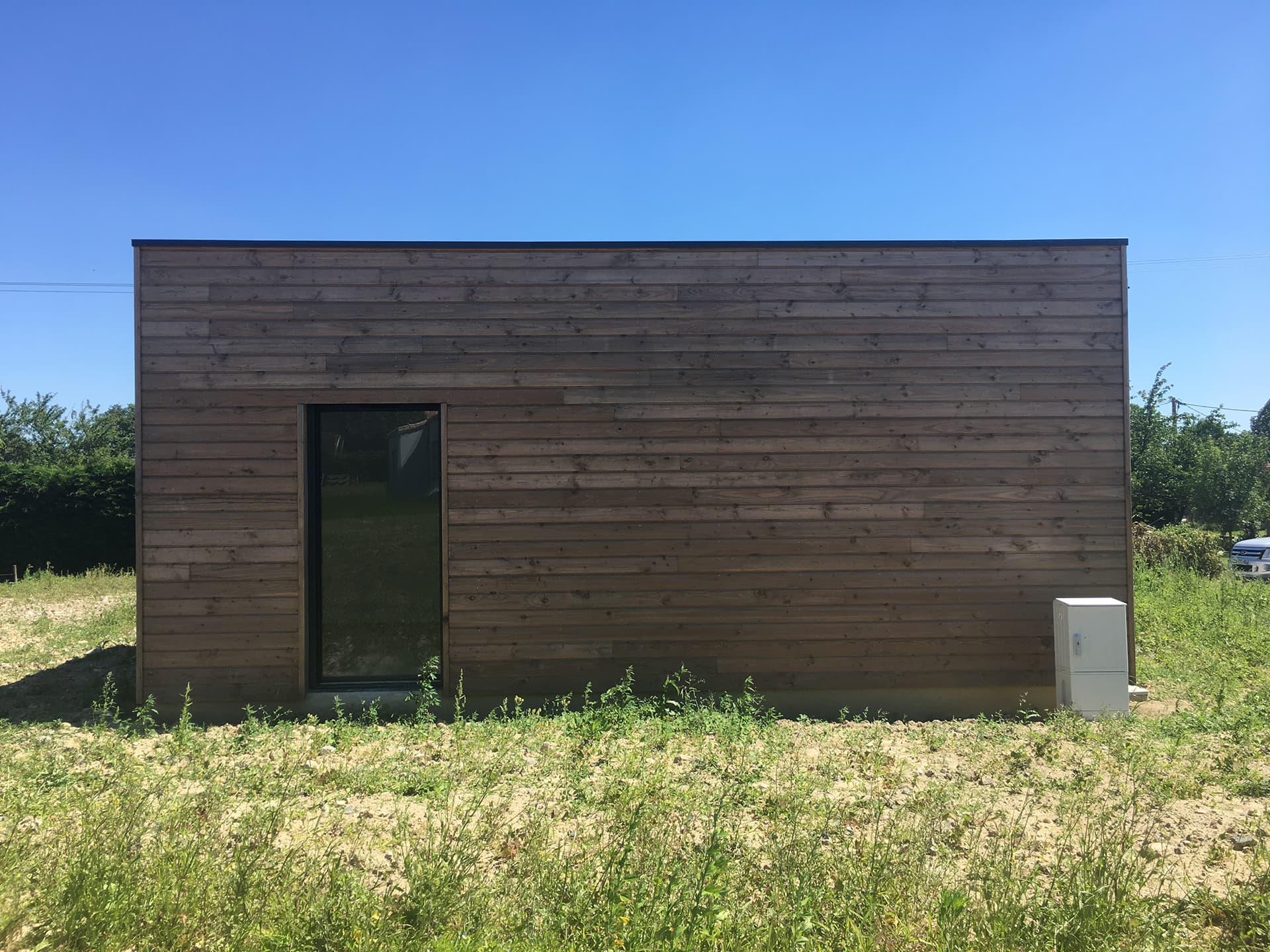 Maison bois facade cote chambres enfants - Permis de construire pour une maison en bois à Legé, proche Nantes