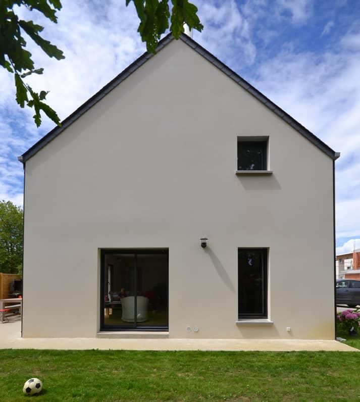 Maison individuelle Nantes pignon - Permis de construire Nantes - construction d'une maison individuelle