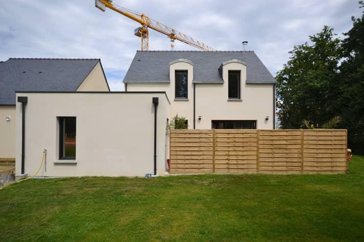 Maison individuelle vue arriere - Permis de construire Nantes - construction d'une maison individuelle