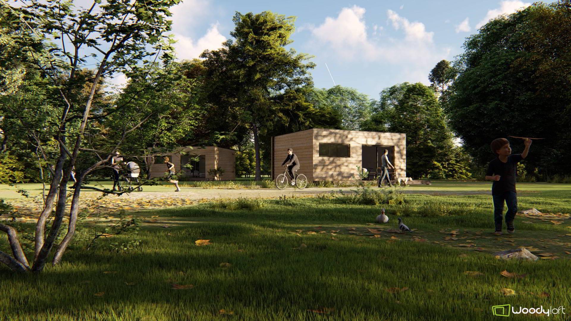 Plans et vues 3D de studios de jardin en bois