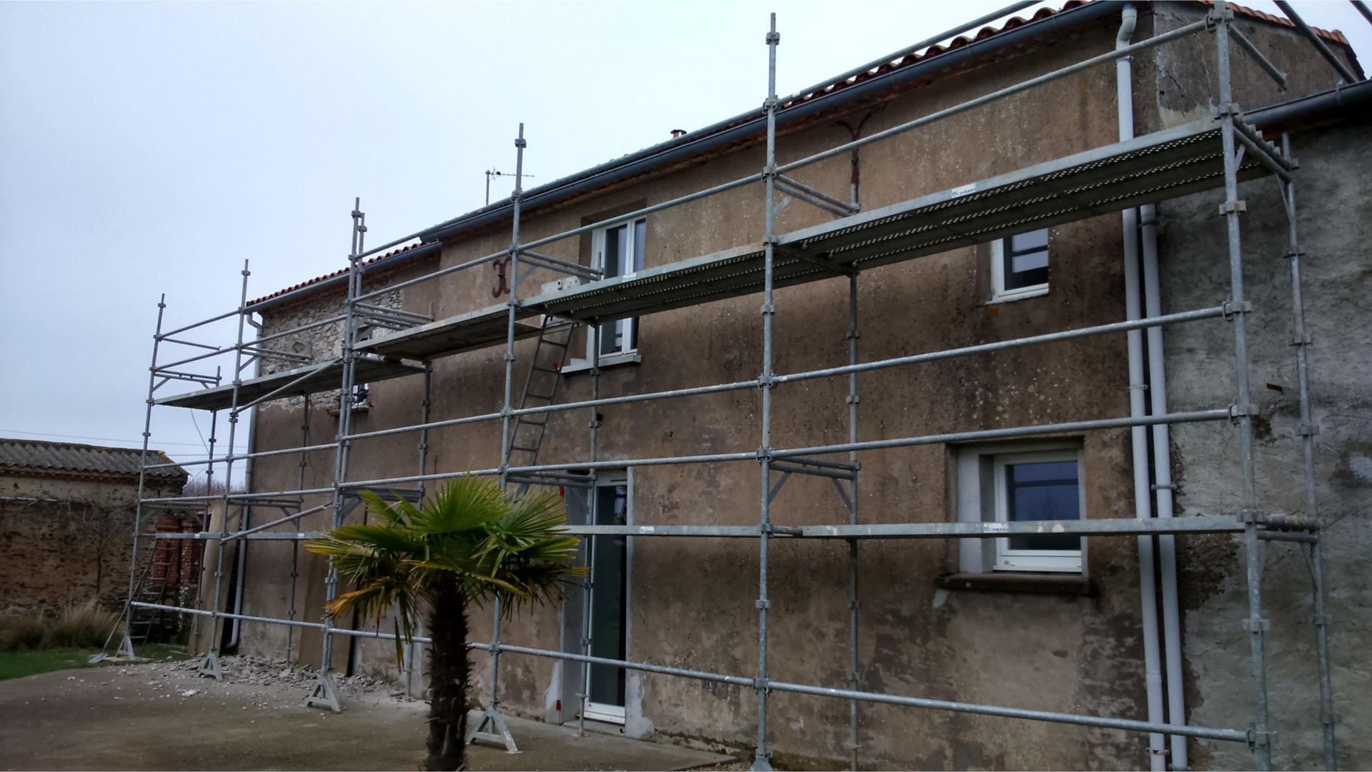 longere proche de nantes 44 - Rénovation de la façade Saint Aignant de Gran Lieu (44)
