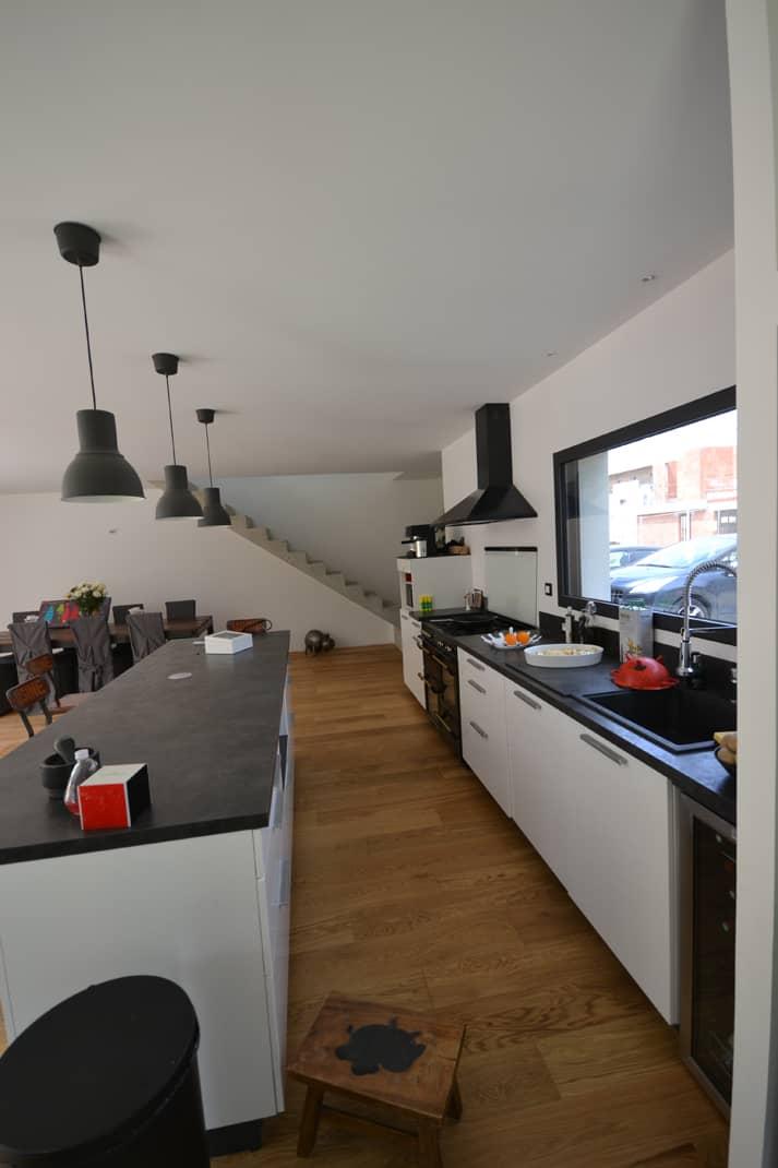 maison individuelle Nantes vue cuisine - Permis de construire Nantes - construction d'une maison individuelle