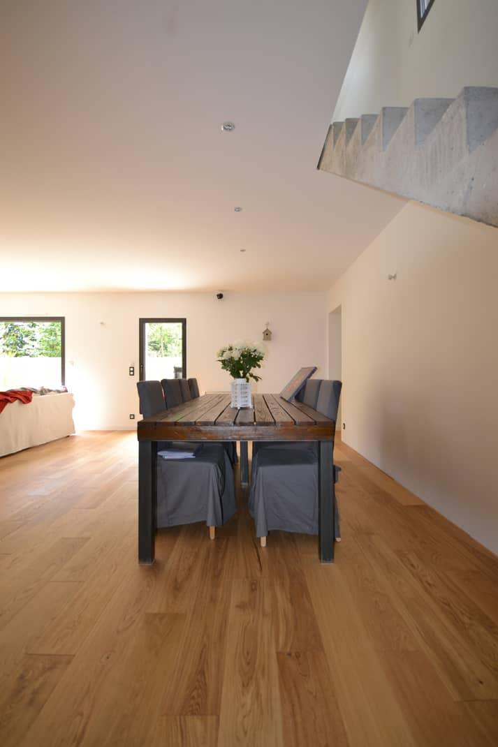 maison individuelle nantes vue interieure sejour - Permis de construire Nantes - construction d'une maison individuelle