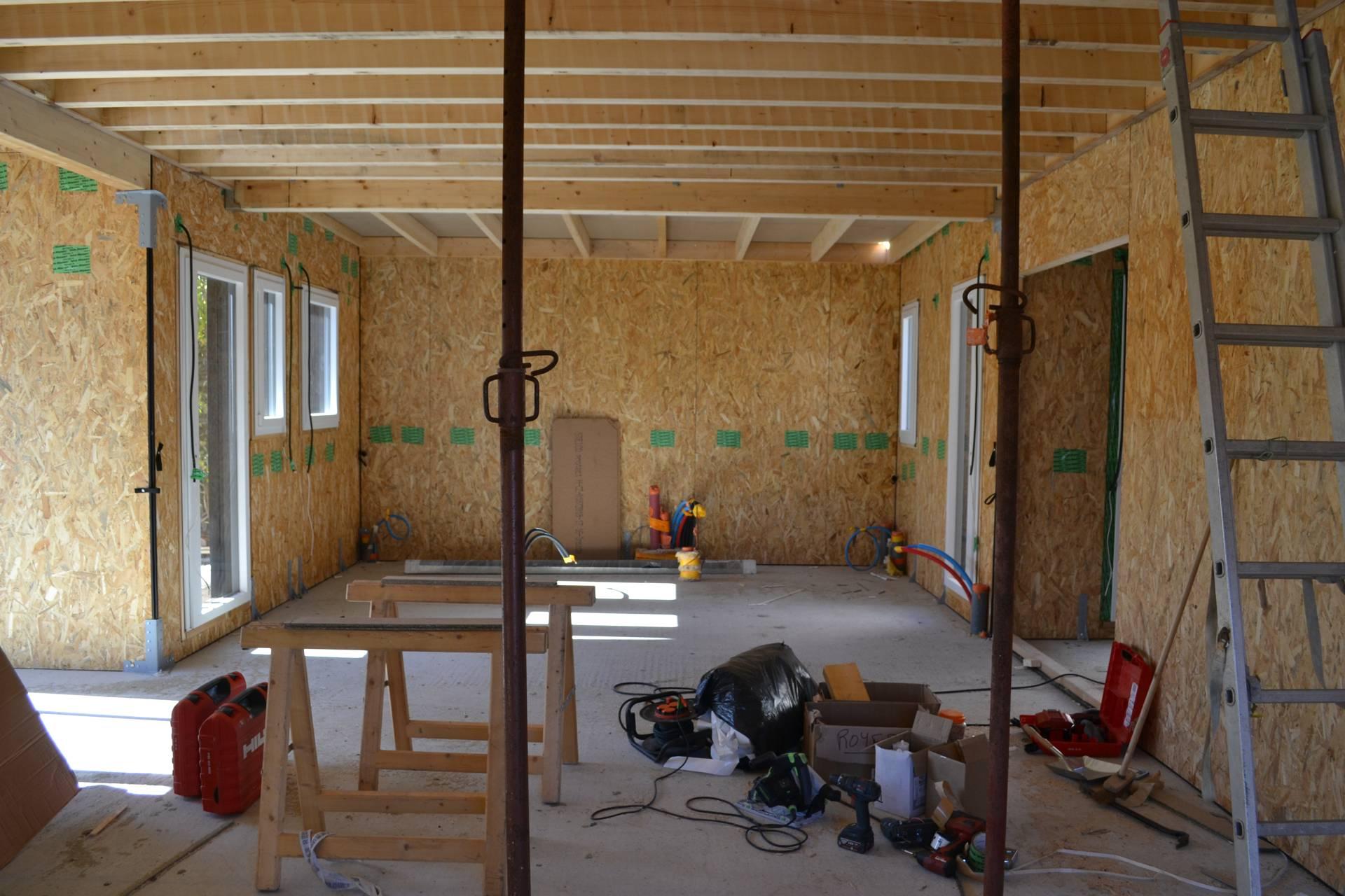 interieur maison bois ecologique - Construction d'une maison en ossature bois Couëron, proche Nantes