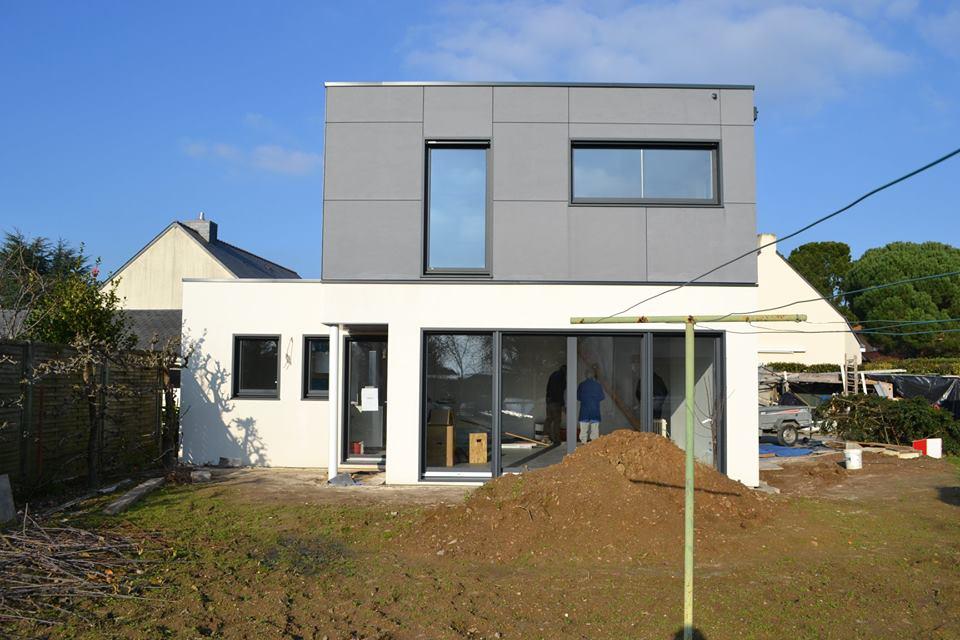 maison bois ossature bois nantes - Construction d'une maison en ossature bois Couëron, proche Nantes