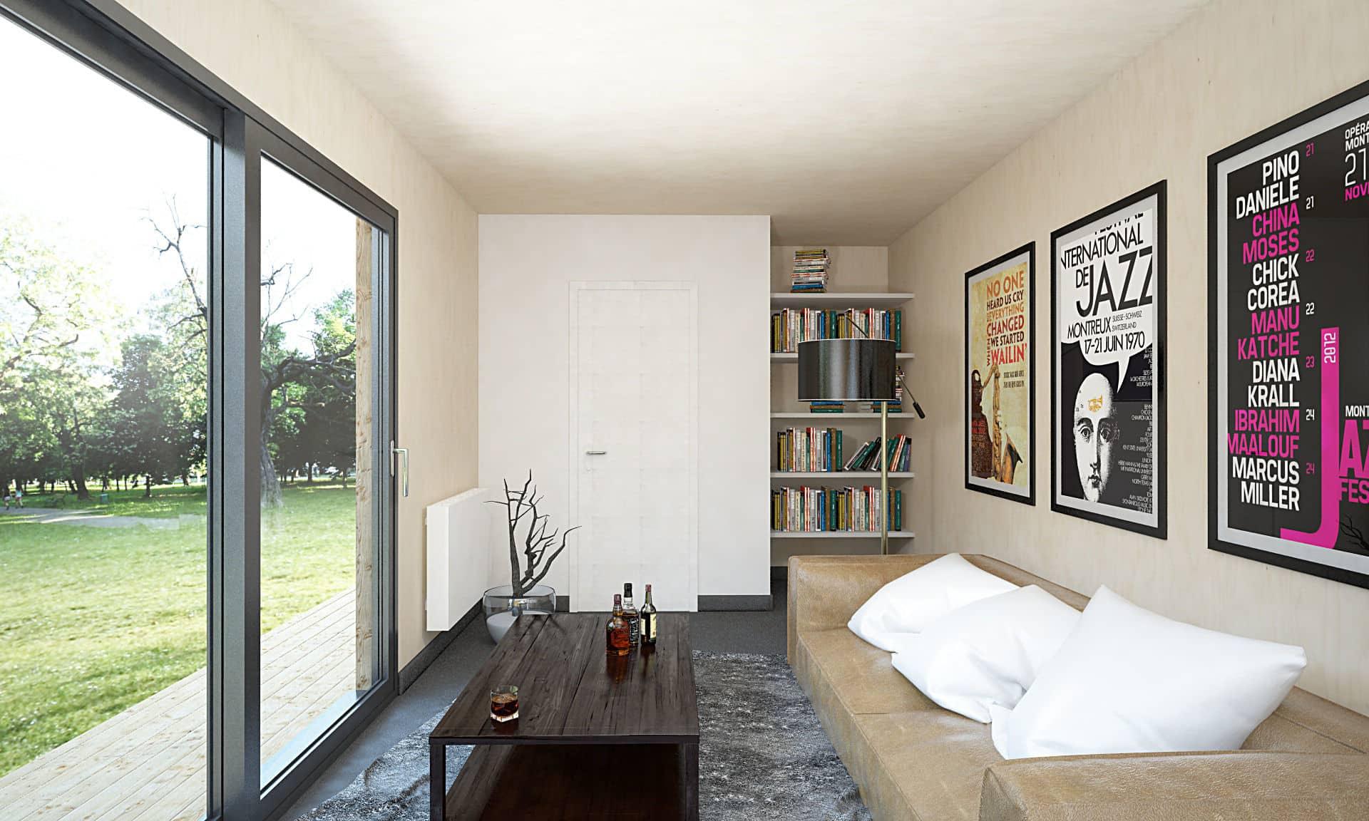 interieure studio de jardin 20m2 woodyloft - Studio de jardin 20m2 Couëron, proche Nantes 44