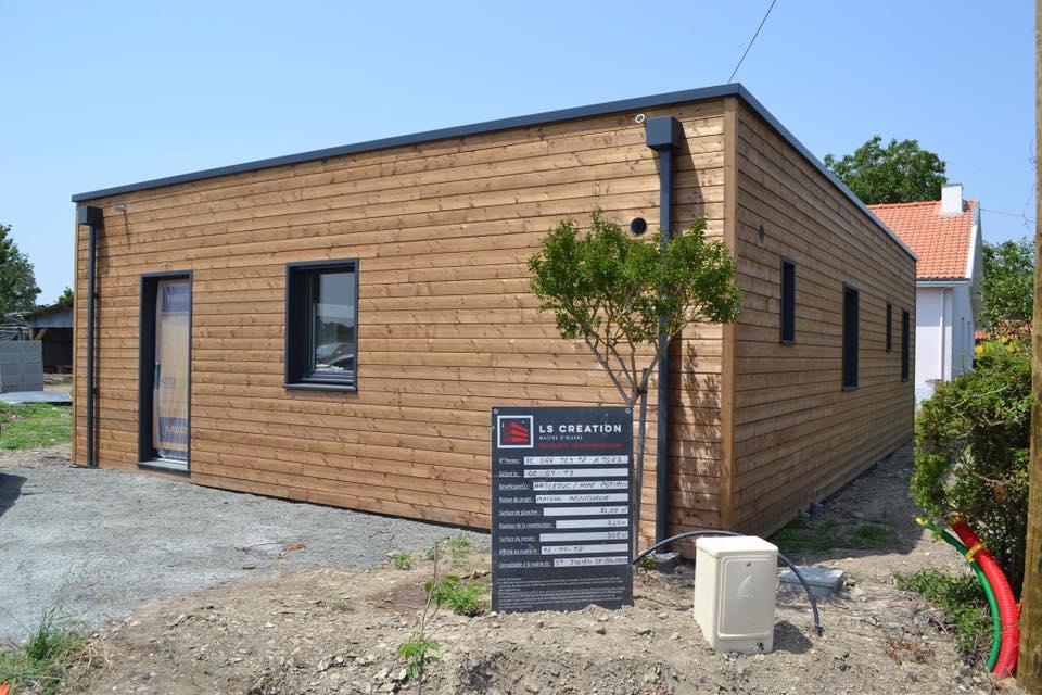 maison en bois prefabriquee 80m2 - Construction d'une maison bois de 80m2 à Nantes