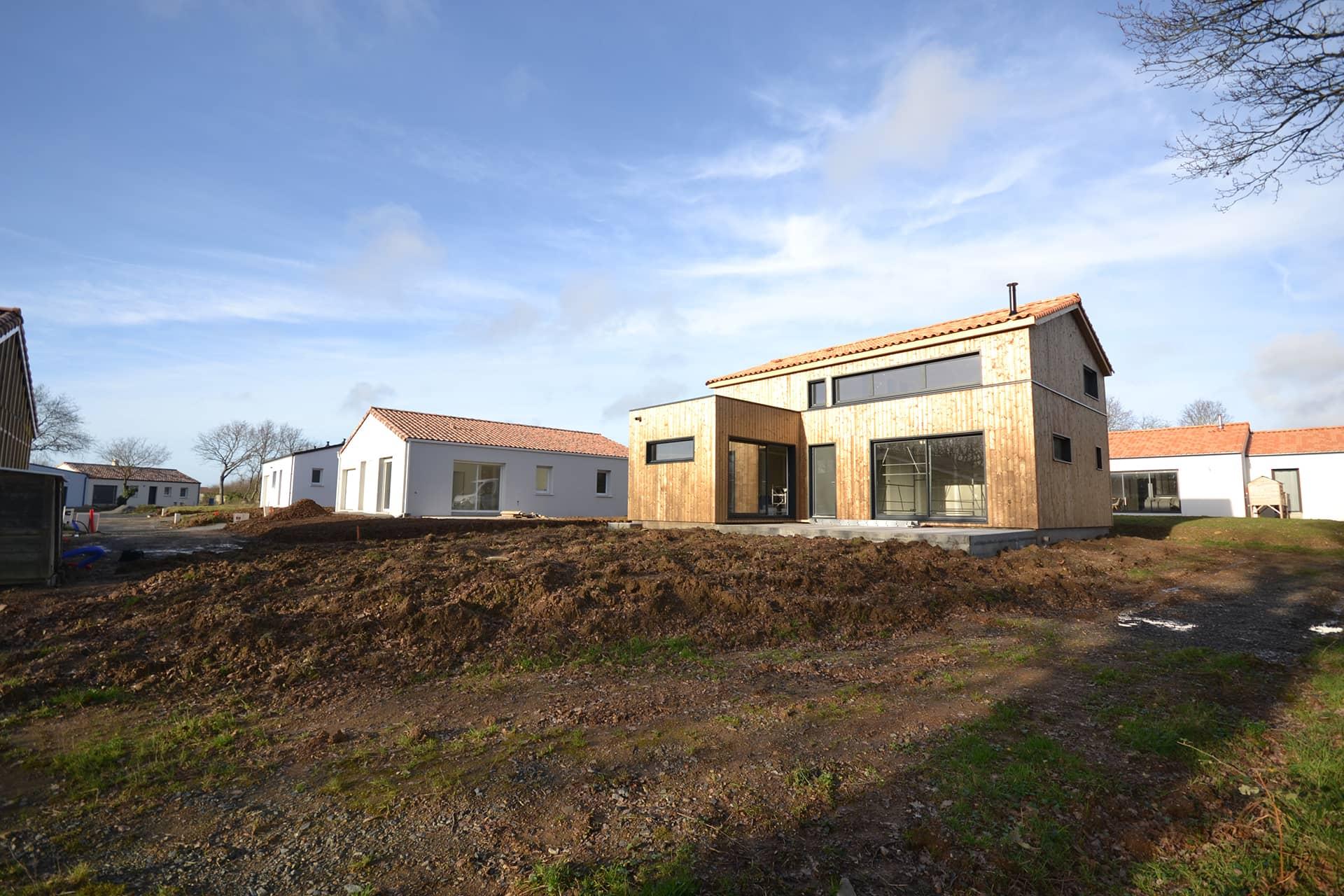 Construction d'une maison en bois de 125m2 non loin de Brétignolles sur Mer